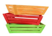 Cestino in legno colorato : Cestini