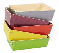 Lotto di 5 cestini MALAGA in legno : Cestini