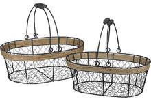 Panier métal / corde oval : Cestini