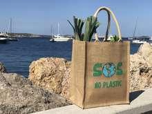 NO PLASTIC - Borsa in iuta 100% biodegradabile : Borse