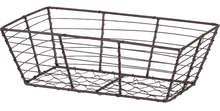 Corbeille métal rectangle effet vieilli : Cestini