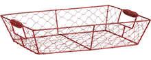 Corbeille métal rouge : Cestini