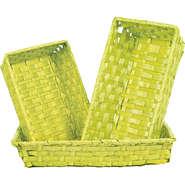 Corbeille bambou vert anis : Cestini
