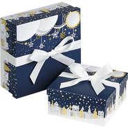 """Coffret carton à ruban """"Bonnes fêtes"""" : Speciale feste"""