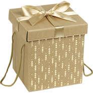 Coffret carton cadeau or et rouge : Scatole