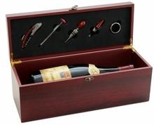Scatola enologia in legno - MAGNUM 5 accessori : Bottiglie e prodotti locali