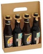 Coffret carton 4 bouteilles de bière 33cl : Bottiglie e prodotti locali
