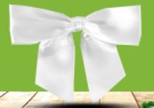 Ruban Noeud Satin Blanc  : Accessori per imballaggi