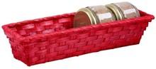 Cestino in vimini colorato 30x10x6 cm : Cestini