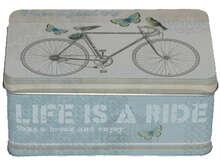 """Boite métal à thé """"BICYCLE"""" : Scatole"""