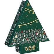 Coffret carton forme sapin décor Bonnes fêtes : Scatole