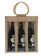 Sac jute 3 bouteilles 75 cl + fenêtre : Bottiglie e prodotti locali