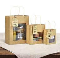 Mini borsa in carta kraft per prodotti locali : Borse