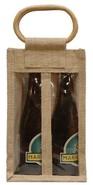 Borsa in iuta 2 bottiglie 37.5 cl + finestre : Bottiglie e prodotti locali