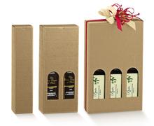 Confezione in cartone olio d'oliva altezza 320 mm : Bottiglie e prodotti locali