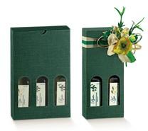 Confezione regalo per bottiglie speciali d'olio d'oliva h 215mm  : Bottiglie e prodotti locali