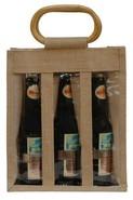 Borsa in iuta 3 bottiglie 37.5 cl + finestre : Bottiglie e prodotti locali