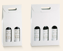 Confezione in cartone bianca - ECONOMICA : Bottiglie e prodotti locali