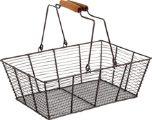 Cestello con manici mobili 33x23x11-25 : Cestini