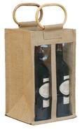 Borsa in iuta 4 bottiglie + finestre : Bottiglie e prodotti locali
