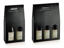 2, 3 bottiglie di Champagne rilievo motivo cuoio nero  : Bottiglie e prodotti locali