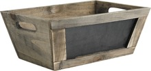 Contenitore in legno + ardesia : Cestini