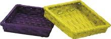 Cestino in bambu rettangolare colorato  : Cestini