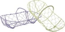 Cestini ovali in griglia laccata : Cestini