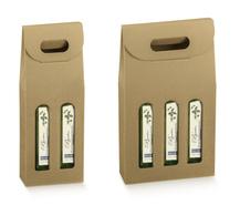 Confezione in cartone per bottiglie d'olio d'oliva : Bottiglie e prodotti locali