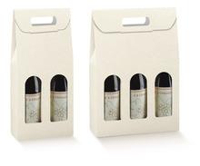 Scatola in cartone per 2, 3 bottiglie con rilievo motivo cuoio : Bottiglie e prodotti locali