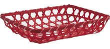 Cestino in bambù colorato rosso 26x20x5 cm  : Cestini