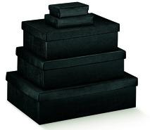 Scatole in cartone colore nero : Scatole