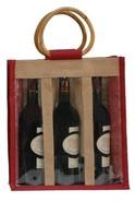 Borsa in iuta 3 bottiglie 75 cl + finestre : Bottiglie e prodotti locali