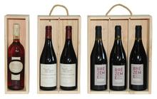 Scatola in legno 1, 2, 3 bottiglie : Bottiglie e prodotti locali