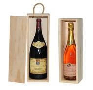 Scatola in legno per MAGNUM e CHAMPAGNE : Bottiglie e prodotti locali