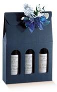 Confezione in cartone Milan blu 3 bottiglie 0.75 l : Bottiglie e prodotti locali