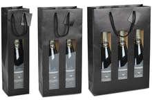 Borsa con finestra Nero opaco 1, 2, 3 bottiglie : Bottiglie e prodotti locali