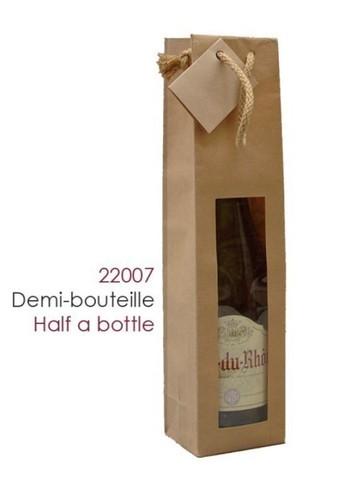 Borsa con finestra per 1/2 bottiglie 50cl 100gr : Bottiglie e prodotti locali