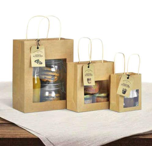 Mini borsa in carta kraft per prodotti locali : Barattoli